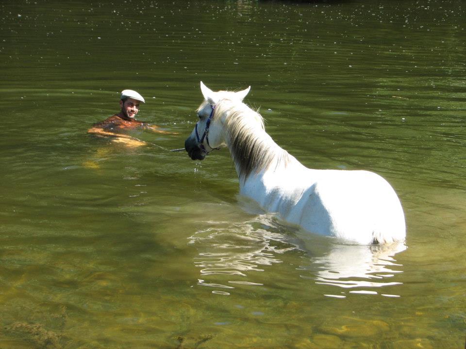 Un bon bain après une journée de rando