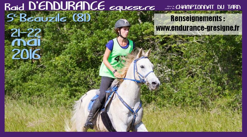 Endurance de St-Beauzile : 21-22 mai 2016