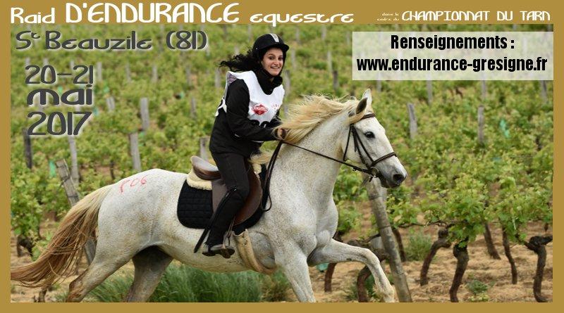 Endurance de St-Beauzile : 20-21 mai 2017